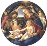 cat acrylic paintings - madonna of the magnificat madonna del magnificat by sandro botticelli