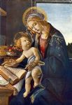 madonna with the child by sandro botticelli painting