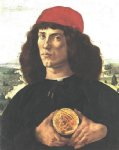 sandro botticelli portrait of a man with a medal of cosimo the elder painting-25235