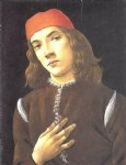 sandro botticelli portrait of a young man painting-25301