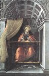 sandro botticelli watercolor paintings - st augustine in his cell by sandro botticelli