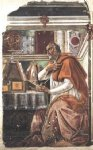 sandro botticelli watercolor paintings - st augustine by sandro botticelli