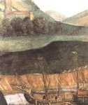 sandro botticelli watercolor paintings - the punishment of korah and the stoning of moses and aaron detail 6 cappella sistina vatican by sandro botticelli