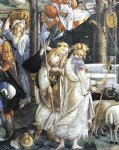sandro botticelli watercolor paintings - the trials and calling of moses detail 1 cappella sistina vatican by sandro botticelli