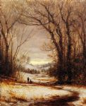 sanford robinson gifford a winter walk painting