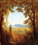 sanford robinson gifford watercolor paintings - hook mountain on the hudson river by sanford robinson gifford