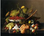 severin roesen an abundance of fruit painting