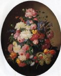 severin roesen floral still life with bird s nest ii painting 25113