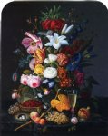 floral prints - floral still life by severin roesen