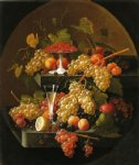 wine print - fruit and wine glass by severin roesen