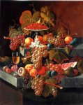 severin roesen fruit composition with tazza of strawberries prints