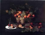 severin roesen acrylic paintings - still life champagne and fruit by severin roesen