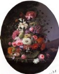 severin roesen acrylic paintings - still life with flowers iii by severin roesen