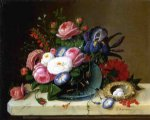 severin roesen acrylic paintings - still life with flowers v by severin roesen
