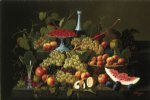 severin roesen still life with fruit and champagne iii painting 25152