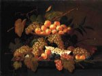 severin roesen still life with fruit and nest painting 25156