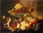 wine print - still life with fruit and wine glass ii by severin roesen
