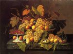 severin roesen still life with fruit ii painting 25160