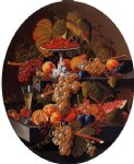 severin roesen still life with fruit on a ledge painting 25164