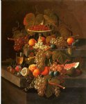severin roesen still life with grapes and fruit painting 25178