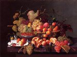 severin roesen still life with pomegranates painting 25180