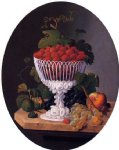severin roesen still life with strawberries painting