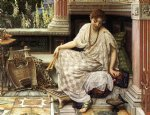 sir edward john poynter original paintings - chloe dulces docta modos et citharae sciens by sir edward john poynter