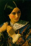 sir john everett millais original paintings - a beauty by sir john everett millais