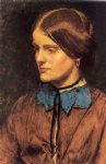 sir john everett millais acrylic paintings - annie miller by sir john everett millais