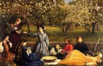 sir john everett millais acrylic paintings - apple blossoms by sir john everett millais