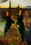 sir john everett millais acrylic paintings - autumn leaves by sir john everett millais
