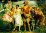 sir john everett millais acrylic paintings - cymon and iphigenia by sir john everett millais