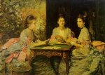 sir john everett millais acrylic paintings - hearts are trumps by sir john everett millais