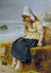sir john everett millais original paintings - message from the sea by sir john everett millais