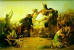 sir john everett millais acrylic paintings - pizarro seizing the inca of peru by sir john everett millais