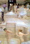 sir lawrence alma tadema art - a favourite custom by sir lawrence alma tadema