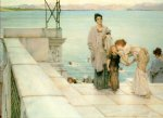 sir lawrence alma tadema art - a kiss by sir lawrence alma tadema