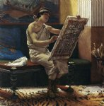 roman art - a roman artist by sir lawrence alma tadema