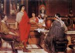 cat acrylic paintings - catullus at lesbia s by sir lawrence alma tadema