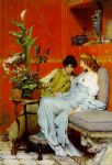 sir lawrence alma-tadema sir lawrence alma tadema confidences painting