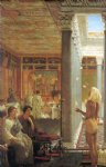 egyptian watercolor paintings - egyptian juggler by sir lawrence alma tadema