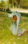 sir lawrence alma tadema flora spring in the gardens of the villa borghese posters