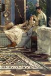 sir lawrence alma tadema from an absent one painting
