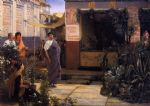 sir lawrence alma tadema the flower market painting