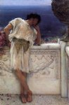 sir lawrence alma tadema the poet gallus dreaming painting