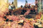 rose famous paintings - sir lawrence alma tadema the roses of heliogabalus by sir lawrence alma-tadema