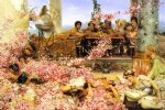 sir lawrence alma tadema famous paintings - the roses of heliogabalus by sir lawrence alma tadema