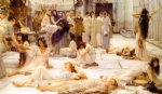 the women of amphissa by sir lawrence alma tadema painting