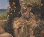 thou rose of all roses by sir lawrence alma tadema painting