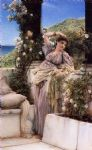 sir lawrence alma tadema thou rose of all the roses oil paintings